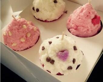 4 x cupcake candle gift box