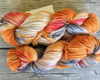Never Tell Me The Odds - Superwash Merino Hand Dyed Yarn - DK Weight yarn - Single Ply Yarn
