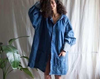 Hurricane Maxi Denim Raincoat