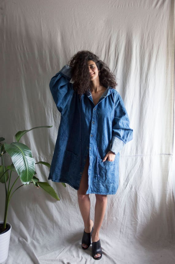 Hurricane Maxi Denim Raincoat
