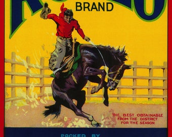 Rodeo Vegetable - Vintage Label (Art Print - Multiple Sizes Available)