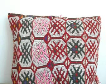 Vintage Moroccan Berber Woven Kilim Cushion Cover