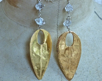 Golden Shield Earrings