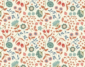 Chieveley A241.1 - Country House Floral On Cream Lewis & Irene Patchwork Quilting Fabric