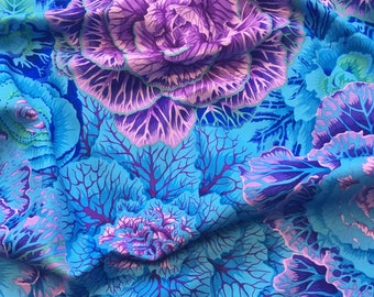 Brassica in Blue PWPJ051.BLUEX Philip Jacobs Kaffe Fassett Collective Classics Free Spirit Fabric