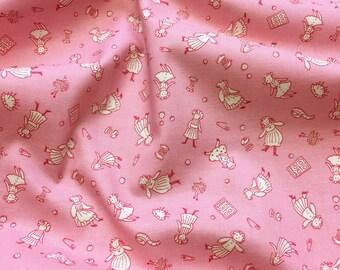 Lecien Retro 30's Child Smile Girls Playing 2017 Pattern 31553 Pink