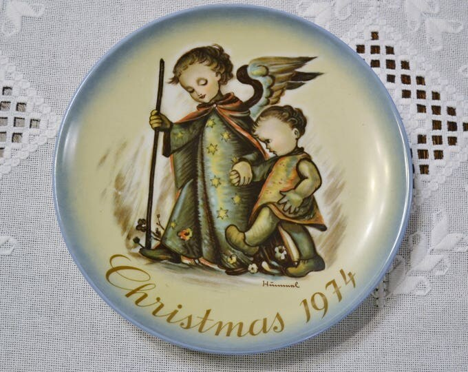 Vintage Hummel Christmas Plate 1974 Collector Plate Winter Holiday Decor West Germany PanchosPorch