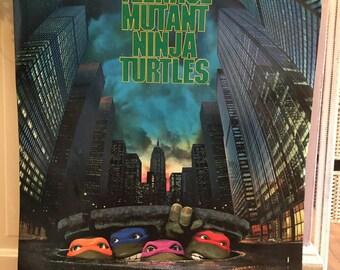 Vintage Teenage Muntant Ninja Turtle Poster 32x22