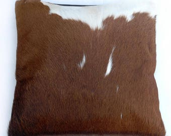 Natural Cowhide Luxurious Hair On Cushion/ Pillow Cover (15''x 15'') A14