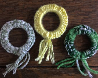 CROCHET CAT toys, gift for cat lover, crazy cat lady gift, cat lover gift, cats that fetch, play with your cat, kitten toys, ring toys