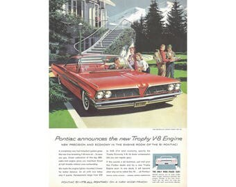 Vintage poster advertisement for 1961 Pontiac Bonneville - 5