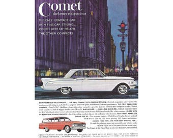 Vintage poster advertisement for a 1961 Comet - 31