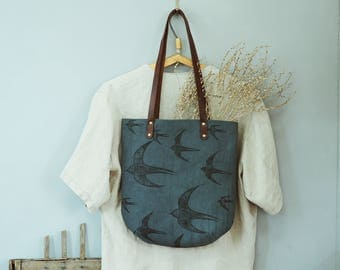 "Bag of canvas ""Swallows"""