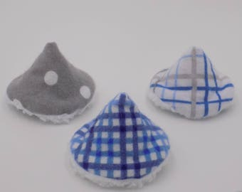 Blue and Grey set of 3 PeePee Teepees
