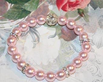 Pearl-Bracelet-pink or white