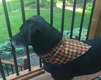 Fall Plaid, over the collar dog bandana