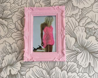 Courtney Love pink glitter dress in pink frame 6x4""