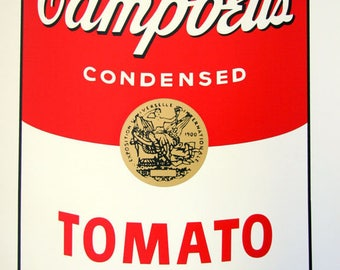 ANDY WARHOL - 'Campbell's tomato soup' - stunning original screenprint - c1990s - very large (Sunday b Morning. Pop Art)