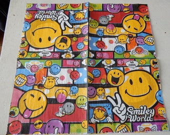 NEW 2 themed Smiley paper napkins