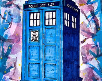 Dr Who Mystery WIP Project Bag 1, 3 or 6 Month Club, Pick Your Bag Size, Gallifrey, Tardis, Companions - Shipping Begins February 2018