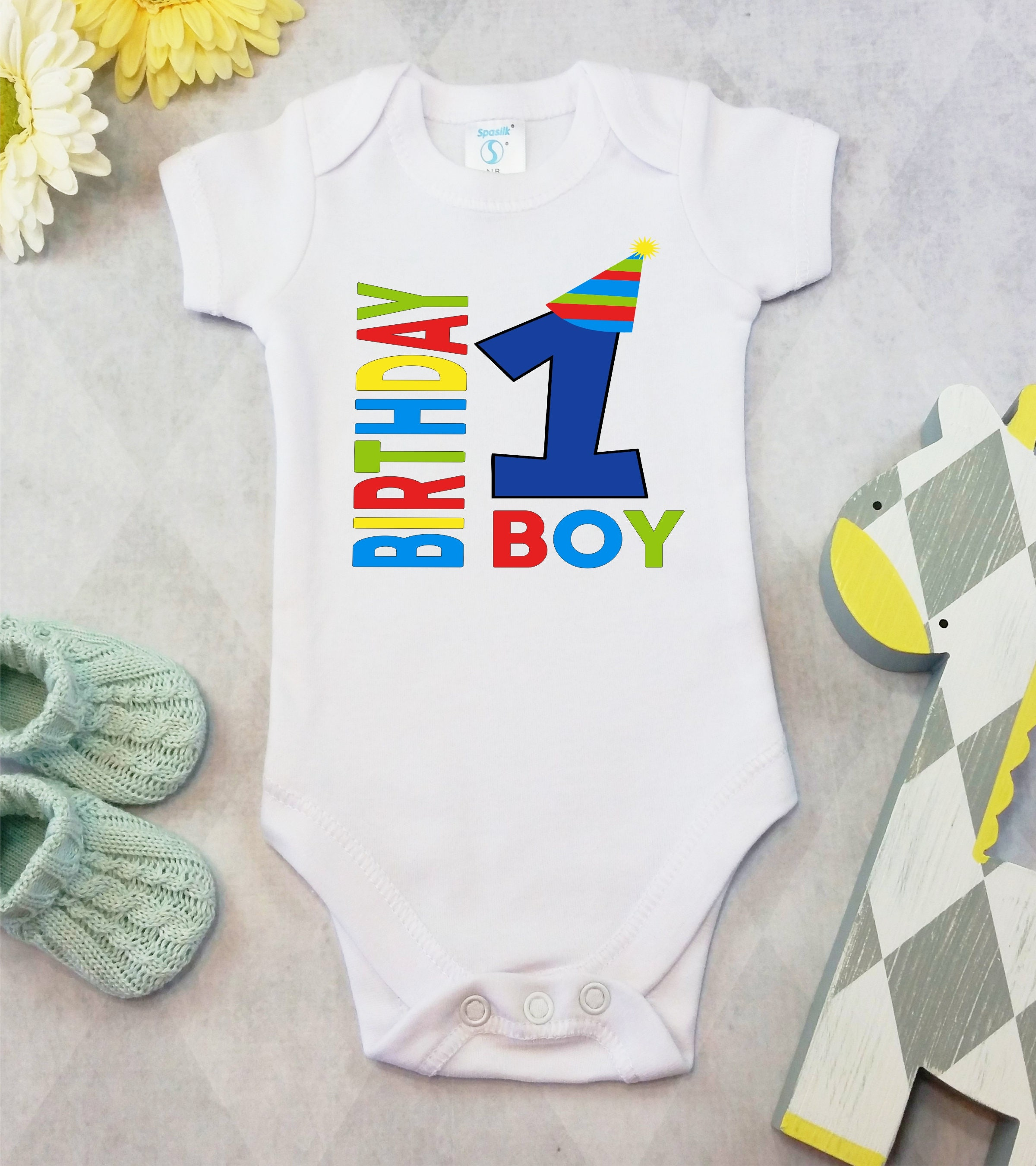 First Birthday Boy esies Brand Bodysuit Birthday Boy Shirt Cute