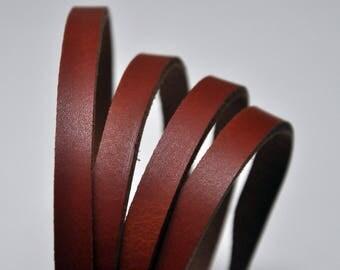 Premium real leather strap - 125 cm Long TAN COLOR Split Veg-Tan (2.6-2.8mm thickness)