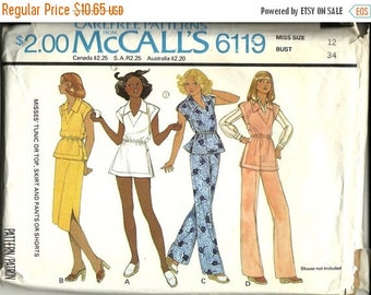 25% OFF McCall's  6119   Misses Tunic or Top, Skirt, Pants or Shorts   Size 12  Uncut