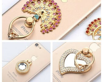 Crystal Mobile Ring Stand Grip stand support for iPhone ipad Andriod phone Samsung S8 Huawei LG Sony tablet