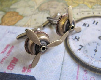 Steampunk Cufflinks, Steampunk Jewelry, Groomsmen Gift, Man, Men, Cufflinks, Steampunk, Wedding Party Gift