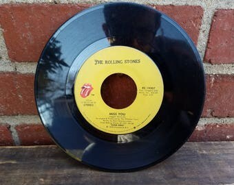 Vintage 45 Record - The Rolling Stones - Miss You & Far Away Eyes