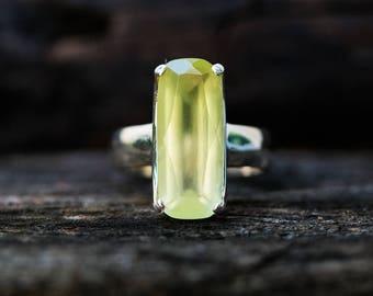 Prehnite Ring size 7 - Prehnite Ring - Prehnite Ring size 7  - Stunning Prehnite Ring - Natural Prehnite Ring - Prehnite Ring Size 7