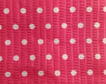SALE - One Half Yard of Fabric - Bright Pink with Dots