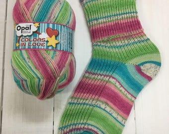 Enchanted Kiss 9510  - Colors in Love 4 ply Sock Yarn by Opal - sock wool - sokenwolle