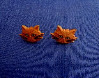 Cat Earrings,Kitty Cat Earrings,Tabby Cat Earrings,Kitty Earrings,Cat Stud Earrings,Cat Jewelry,Kitty Jewelry,Animal Lover Jewelry