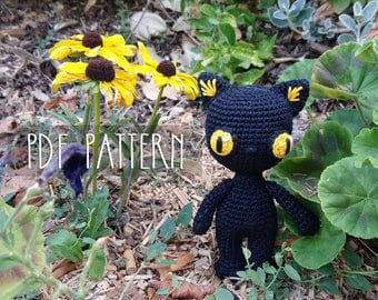 PDF PATTERN - EN - Crochet pattern for amigurumi - Nemesis the Halloween Black Cat