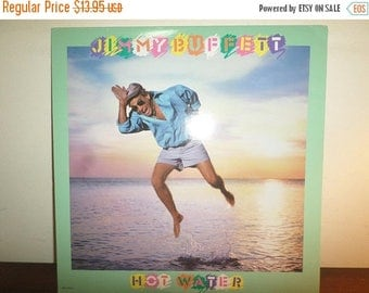 Save 30% Today Vintage 1988 LP Vinyl Record Jimmy Buffett Hot Water Near Mint Condition 11602
