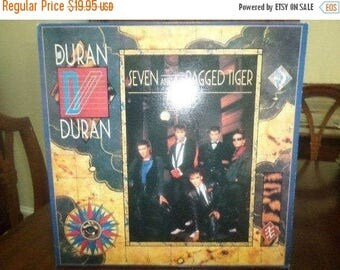 Save 30% Today 1983 Vintage Duran Duran LP Record Seven and the Ragged Tiger Near Mint Condition 6328