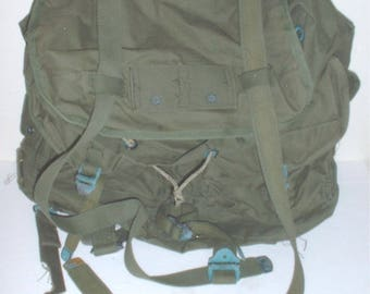 ARVN rucksack  with tag; UNISSUED but with storage damage