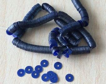 Blue sequin metallic 4 mm Swarovski Crystal 2031