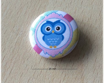 "badge 25 mm ""OWL 01"""