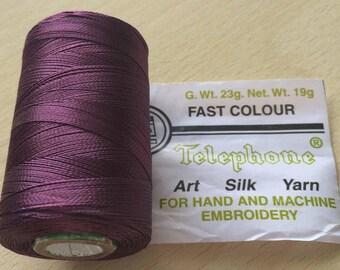 Rayon thread / artificial silk 147 Eggplant