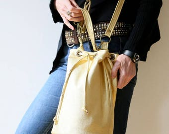 "Leather sack ""Gold Rush"""