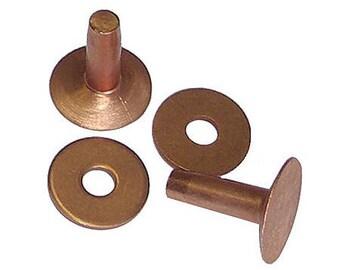 50 Qty. C.s. Osborne & Co. No. 1700 - Copper Rivets, Size 8