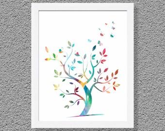 Tree Art Print, Kids Art Print, Kids Wall Decor, Nursery Wall Art Print, Kids Wall Art, Nursery Wall Decor, Children Poster