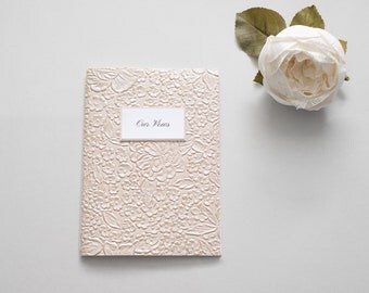 Vows Booklet, Wedding Vow Book, TAUPE, Vow Book, Our Vows, Wedding Vows, Wedding Vow Keepsake, His & Hers Vows, Made to Order
