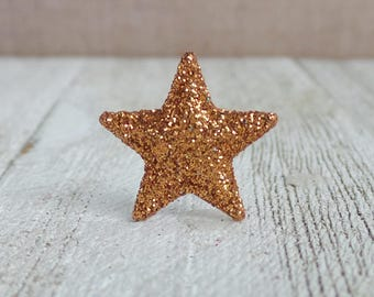 Bronze Star - Glitter Star - Award - Motivation - Lapel Pin