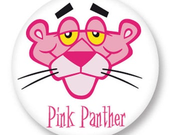 X 1 metal Pink Panther 25mm Cabochon