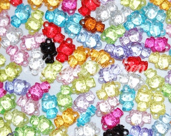 x1O charm mix color 15mm translucent H.Kitty