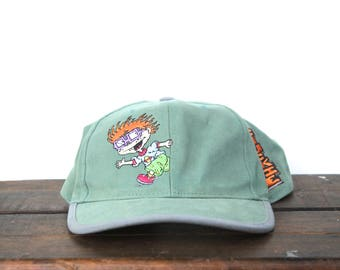Vintage 90's Rugrats Chuckie Nickelodeon Cartoon Character Youth Size Small Snapback Hat Baseball Cap