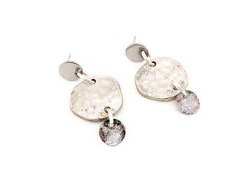Earrings, Minimalist Earrings, Metal Stud Earrings.